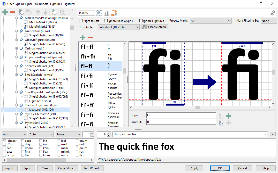 تصویری از نرمافزار فونتکریتور
